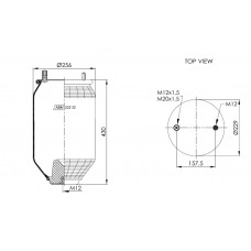 ABM22232A (без стакана) 1шп/штуц./1 отв.ROR