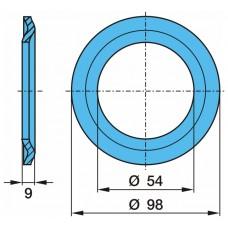 стопорное кольцо 52203 53*98*10 BPW 53/98/10 ECO 8T