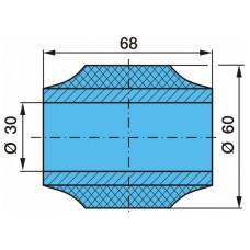 сайлентблок тяги реактивной YC179FB4213 30*60*68 BPW