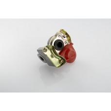 головка соединительная (груша) 4522002110 с клапаном (тягач) красная M22*1.5 (MG8/3)