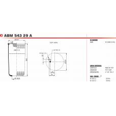 пневморессора SA520188 без стакана MAN TGA/TGS/TGX