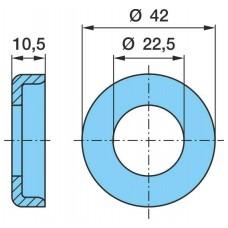 шайба тормозного вала 04618400A (после трещетки) 22.5x42x10.5 BPW SN30../36../42..(MG9/5)