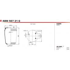 ABM50731G без стакана (2 шп.+возд. / 1 отв.) DAF CF85IV/XF105