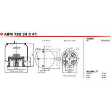 32919KPP в сборе (2 шп.М12+возд.М22/ц.болт М16) 2919V NEW SAF 2/Wielton
