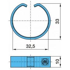 кольцо тормозной колодки 701.038 С-обр. 32.5*33*10 BPW ECO H/R SN42..,KH/KR SN36.. (3/95-) (21/2)