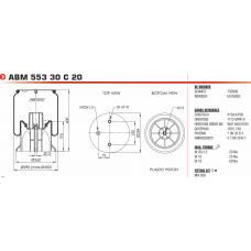 1DK23L-1 (в сборе) (2 отв.М10+ возд.отв.М22 / пласт.d13.5 М12) Weweler/Schmitz