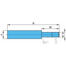 палец амортизатора 701050 (кронштейна рессоры) вварной М24/40*165/250 BPW