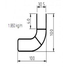 профиль боковой угловой 504591152 500мм SCHMITZ/KRONE/KOGEL/ТОНАР