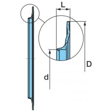 кольцо уплотнительное ступицы 070224 пластик 122*160*8.7 BPW ECO Plus 8-9t