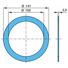 кольцо уплотнительное ступицы 0241.59 пластик 105*141*2.5 BPW