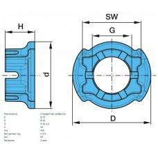 гайка ступицы 0234.040 M42*2/SW65 BPW