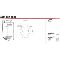 пневморессора без стакана ABM53730H 2*M10 + 1*M22 SCHMITZ
