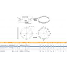 круг поворотный прицепа KLKHE110022 D1=1100, D2=1108, H=90, малообслуживаемый Jost