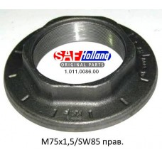 гайка ступицы 1011008600 правая M75*1.5 D=127 SW85 Integral SAF
