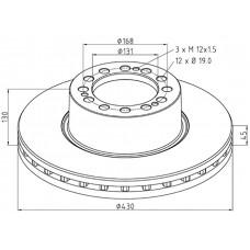 диск тормозной 4079000502 (M2000082) 430*45*130 SAF SKRB/SKRS 9022