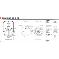 1R12749 (в сборе) (2 отв.М10+ возд.отв.М22 / пласт.d13.5 М12) Weweler/Schmitz