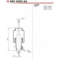 амортизатор ABC2002-A2 кабины (пневмо) с подушкой (задний) Scania P/G/R/T-Series