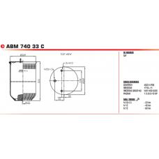 пневморессора AGA6335 без стакана (2 шп.+возд. / --) SAF 2923V