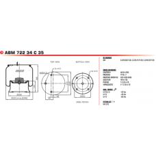 V1D28A10 в сборе (2 шп.M12+возд.M22/ 4 отв.M12, металл) 2918V NEW SAF 2/Wielton