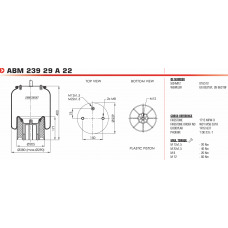 ABM23929A без стакана (2отв.М8 + штуц.М22/М12 / пласт. 1отв.M12) Weweler/Schmitz