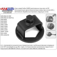 ключ гайки ступицы 2012002301 SW86 L=140 SAF