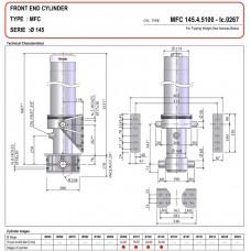гидроцилиндр MFC_B3 145-4-5110-D323- A=190-P.d.60-Grey-(-50) Binotto Wielton