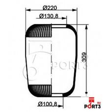 3817 (чулок) 314*220/d130.8/d100.8 RVI/Iveco EuroTech/Star