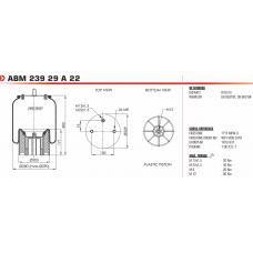 1R12-837 в сборе (2отв.М8 + штуц.М22/М12 / пласт. 1отв.M12) Weweler/Schmitz