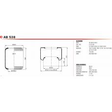 V1E32 чулок (662N) 360*300/d198 BPW/MAN/Neoplan/DAF