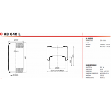 2897 A (чулок) 440*220/d164 DAF/Scania/Iveco