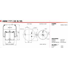 пневморессора W01M588535 в сборе/со стальным стаканом (2 шп.+возд./2 шп.) Scania R