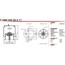 S2294022205 в сборе (2 шп.+возд. / 1 шп. ст. пластик H150) SAF 2619V