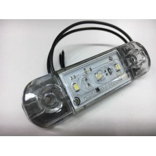 фонарь габаритный 11216/12312 светодиодный LED Белый 12-24V