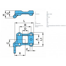 площадка подрессорная OR830070 правая, с пальцем амортизатора, балка F120 A125/B150 BPW