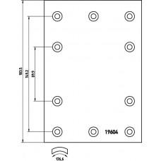 накладки тормозные 19604/605 00 std 311*190 (с закл) Fruehauf/ROR