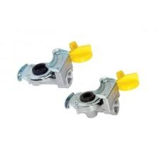 головка соединительная (груша) к-т 4006043280 (2шт. тягач - прицеп) желтые М22*1,5 (MG8/3)