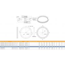 круг поворотный прицепа 662106180 А=1200,C=1077,B=1160, H=90, стандарное обслуживание GF