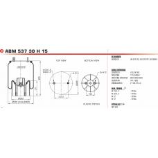 1R11882 (в сборе) (1шп.M12.+1штуц.M22/M12 / пласт. 2отв.M12 ) ROR/Weweler