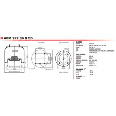 1D28A-2 (в сборе) 4 шп.+возд. 4 отв.) BPW/Тонар