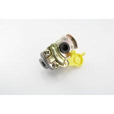 головка соединительная (груша) 6001402 без клапана (прицеп) желтая M22*1.5 (MG8/3)