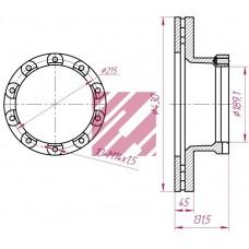 диск тормозной SAF107 430*45*130 SAF SKRB/SKRS 9022