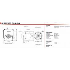 54022NP03 в сборе (2 шп.+возд. / 4 отв.) SAF 2618V