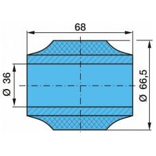 сайлентблок 1016210 реактивной тяги 68*66*36 BPW/SAF