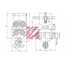 кран главный тормозной (ножной) VL0401117 DAF F65/75/85/95/65/75/85CF/95XF